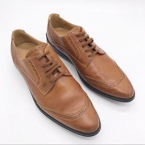 TOD'S Leather Lace Up Oxfords Driving Shoes 37